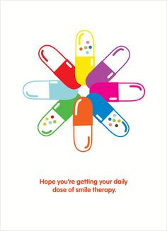 Happy Pills Card - muchas más ideas para tu #farmacia en http://pinterest.com/farmagestion/escaparates-y-paqueter%C3%ADa-farmacia/