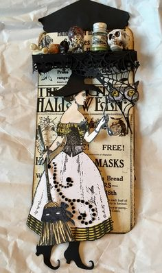 Witches Tag Swap using Character Construction stamps. October 2016. Artist: Teri Steel