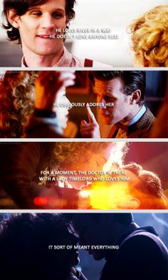 "[gifset] Eleven and River Song.   ""To my Doctor, that's his big relationship on the show."" - Matt Smith"