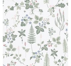 invite the beauty of nature into your home with this garden inspired print. Soft green sprigs of fern, lavender and ivy effortlessly twirl against a white background. Stormare is an unpasted, non woven wallpaper. Brick Wallpaper Roll, Green Wallpaper, Wallpaper Panels, Wallpaper Samples, Peel And Stick Wallpaper, Photo Wallpaper, Dog Wallpaper, Wallpaper Ideas, Multicolor Wallpaper