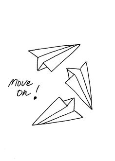 move on illustration ulrike wathling #words #paper