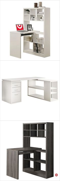Shop Target for corner desk you will love at great low prices. Free shipping on orders of $35+ or free same-day pick-up in store. Home Hacks, Unique Furniture, New Room, Apartment Living, Room Inspiration, Corner Desk, Small Spaces, Home Goods, Diy Desk