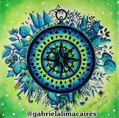 Johanna Basford Adult Coloring Books Colouring Color Inspiration Bradford Enchanted Compass Mandala