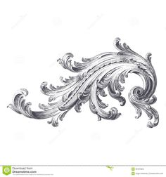 acanthus pattern | Ancient engraving of acanthus scroll design.