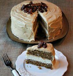Pumpkin Cheesecake Cake... Thanksgiving or Christmas.