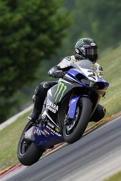 Nothing but lean with Monster Energy Graves Yamaha's Josh Herrin at Road America