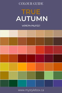True Autumn Colour Guide Soft Autumn Deep, Dark Autumn, Dark Winter, Cool Undertones, Warm Undertone, Deep Autumn Color Palette, Seasonal Color Analysis, Color Me Beautiful, Bright Spring