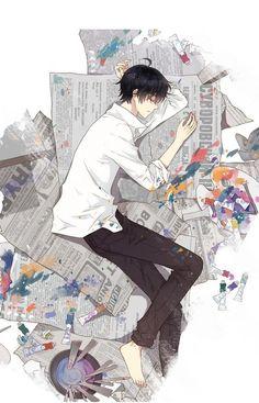 Cartoon Drawing Tips for Kids Cool Anime Guys, Handsome Anime Guys, Hot Anime Boy, Anime Love, M Anime, Kawaii Anime, Anime Art, Image Manga, Chibi