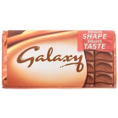 galaxy chocolate is a brand of chocolate and really really yummy! But remember, don't eat a lot or elese you would get fat.