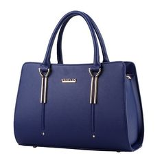 Brand Women Pure Color Top-handle Bag Madam Shoulder Bags PU Leather Handbags Solid Tote Borse Female Herald Fashion Setting Bag