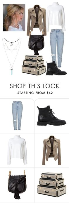 """""""Untitled #114"""" by evelyn-mendoza-1 on Polyvore featuring Topshop, Giuseppe Zanotti, The Elder Statesman, Chloé and Eichholtz"""