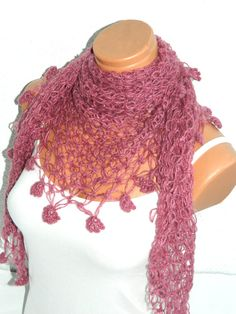 Pink 2012 trends scarf hand knit women scarves by WomanStyleStore, $31.00