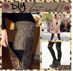 """""""TIP: make your own boot sock from a old sweater"""" by the-beauty-nerds ❤ liked on Polyvore"""