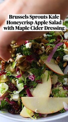 Fresh Salad Recipes, Healthy Salad Recipes, Whole Food Recipes, Vegetarian Recipes, Healthy Cooking, Healthy Eating, Cooking Recipes, Kale Salad, Soup And Salad