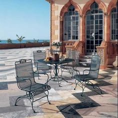 5 Pc Briarwood Outdoor Dining Set | Woodard | Wrought Iron | Dining Sets |  Patio