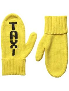Kate Spade New York Big Apple Taxi Mittens | Piperlime--- Cute for catching a cab!!