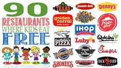 Kids Eat Free Restaurant List