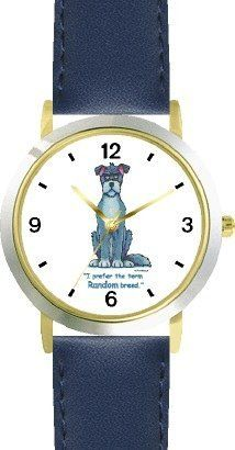 Mongrel Dog Cartoon or Comic - JP Animal - WATCHBUDDY® DELUXE TWO-TONE THEME WATCH - Arabic Numbers - Blue Leather Strap-Size-Children's Size-Small ( Boy's Size & Girl's Size ) WatchBuddy. $49.95. Save 38% Off!