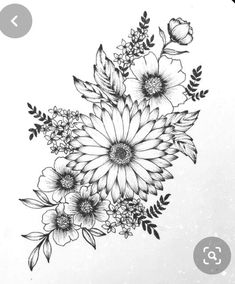 Design tattoo the pink daisy flower clock Laurence Veilleux Vintage Flower Tattoo, Simple Flower Tattoo, Small Flower Tattoos, Flower Tattoo Arm, Tattoo Roses, Flower Tattoo Drawings, Tattoo Sketches, Flower Tattoo Sleeves, Drawings Of Flowers