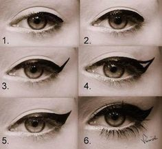 The perfect pinup eye makeup look!!