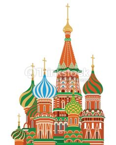 St Basil Russian Orthodox Church | St. basil cathedral,Isolated : Clipart vectoriel