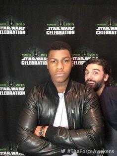 Star Wars VII - The Force Awakens / John Boyega and Oscar Isaac
