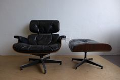 1st Gen. Ray and Charles #Eames 670/671 #Leather #Lounge #Chair with Ottom – Den Møbler