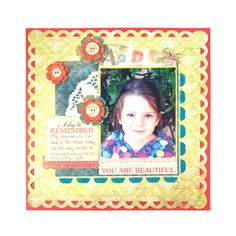 You Are Beautiful featuring Sew Ribbon from We R Memory Keepers - Scrapbook.com