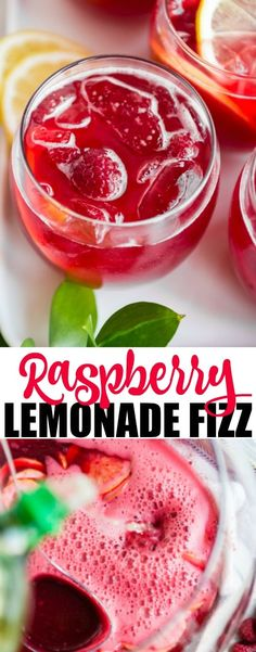 An easy recipe for Raspberry Lemonade Fizz. Make this non-alcoholic beverage the Une recette facile pour la limonade framboise Fizz. Fruit Drinks, Party Drinks, Yummy Drinks, Birthday Drinks, Refreshing Drinks, Raspberry Drink, Raspberry Lemonade, Lemonade Drink, Raspberry Ginger Ale
