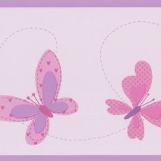 Lavender Butterfly Sky - Brewster Wallpaper Borders - 451-1841