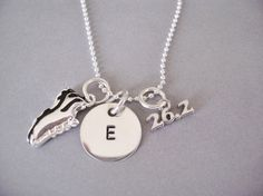 Personalized Marathon Runner Necklace with Silver by timbrodamore, $35.00