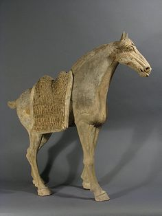 Large terracotta Horse , Tang Dynasty (China)