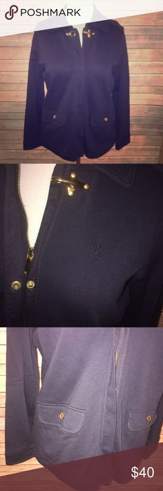 """Ralph Lauren Navy Military Style Jacket Simply amazing style, quality, and detail! Rich navy shade with gold zipper, buckle, and button accents. Classic chic at its finest! Excellent quality, no size tag but I am confident it's a M, measures 22"""" from armpit to armpit and 26"""" from shoulder to hem. 100% cotton with some stretch. Check out my other listings to bundle and save 25% 😎! Lauren Ralph Lauren Jackets & Coats"""