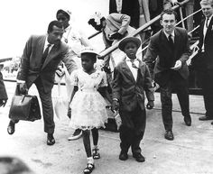 Two children arrive in Britain by boat from the Caribbean, June 1962.