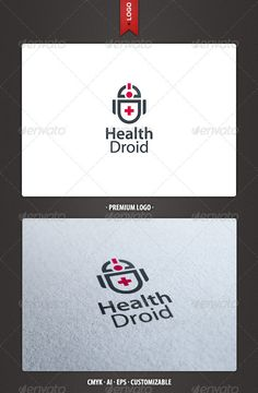 Health Droid  - Logo Design Template Vector #logotype Download it here: http://graphicriver.net/item/health-droid-logo-template/2390461?s_rank=102?ref=nexion