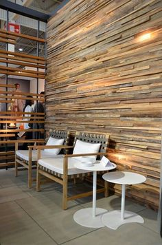 natural timber wood creates an outstanding feature wall in Beautiful Textured Wall