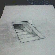 drawing Stairs to Underground by FirdausAshari on DeviantArt Illusion Drawings, 3d Drawings, Illusion Art, Pencil Drawings, Stairs 3d Drawing, How To Draw Stairs, Paper Drawing, Learn To Draw, Paintings
