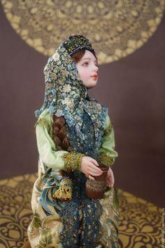 Купить Мила - кукла ручной работы, авторская кукла, интерьерная кукла, русский стиль