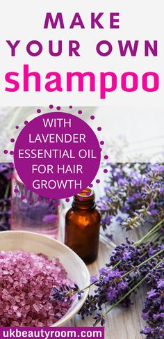 If you are looking for essential oil for hair growth lavender is the best one to try! Lavender essential oil helps hair to grow thicker and faster. If you are looking for recipes for homemade shampoo for growth, the lavender essential oil homemade shampoo is super easy to make! All natural ingredients that would work for curly hair or for oily hair. I will show you how to make the shampoo and the ingredients you will need. Lavender essential oil also works well with peppermint Diy Shampoo, Homemade Shampoo, Homemade Products, Homemade Essential Oils, Essential Oils For Hair, Natural Hair Care, Natural Hair Styles, Natural Skin, Natural Beauty