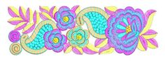 Border Embroidery Designs, Border Design, Design Reference, Machine Embroidery, Outdoor Blanket, Kids Rugs, Sewing, Nice, Flowers