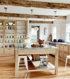 120 Modern Rustic Farmhouse Kitchen Decor Ideas 54 – Home Design Beautiful Kitchens, Cool Kitchens, Country Kitchens, White Kitchens, Dream Kitchens, New Kitchen, Kitchen Dining, Kitchen Ideas, Glass Kitchen