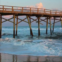 Oceana Pier on Emerald Isle, North Carolina, Southern Outer Banks.............CRYSTAL COAST ISLAND REALTY, ATLANTIC BEACH, N.C., Love this company!!!  Great work for us in our new beach home. ❤️