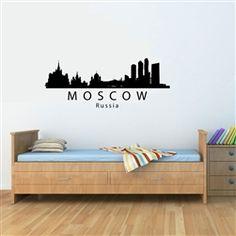 MOSCOW Russia City Skyline Vinyl Wall Art Decal Sticker $12.99