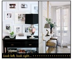 Fresh and simple entryway with a gallery wall.