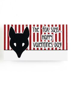 This 'The Fox Says' Blank Valentine - Set of 20 by Stamp Out Online is perfect! #zulilyfinds