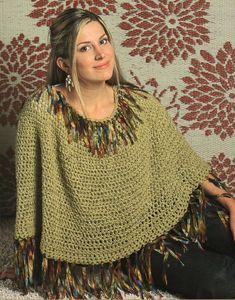 Excellent No Cost Crochet poncho fringe Popular Crochet Capelet Pattern, Crochet Poncho Patterns, Crochet Shawl, Easy Crochet, Knit Crochet, Crochet Hooks, Crochet Fringe, Free Crochet, Beaded Cape