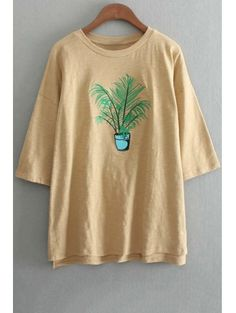 SHARE & Get it FREE | Plant Embroidery Round Neck 3/4 Sleeve T-ShirtFor Fashion Lovers only:80,000+ Items • New Arrivals Daily Join Zaful: Get YOUR $50 NOW!