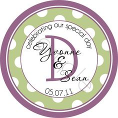 Trendy Polka Dot Monogram design (a nice alternate version!).  Personalized stickers by partyINK.