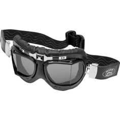 River-Road Adventure Adult Harley Touring Motorcycle Goggles Eyewear One Size Fits All Smoke
