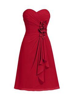 Dresstells® Short Chiffon Prom Dress with Flower Sweetheart Bridesmaid Dresses Dresstells http://www.amazon.co.uk/dp/B00ZR1C992/ref=cm_sw_r_pi_dp_Hp0Ewb151NXBF